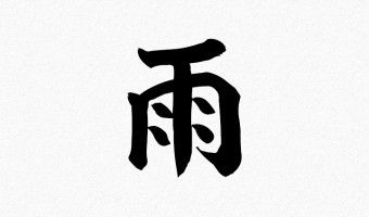 Japanese Tattoo Symbol for rain. What it describe is the way raindrops fall down from the sky.