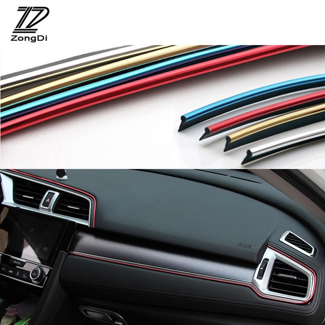 Zd 1x Interior Sticker Decoration Strip 5m For Honda Civic 2006