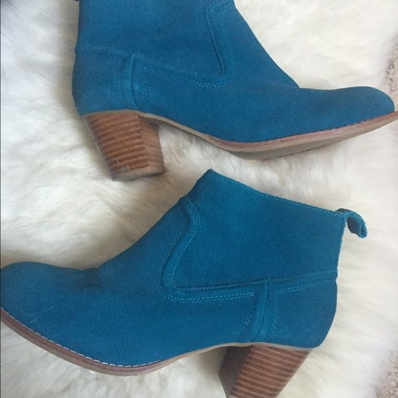 4ebb4f567b81d4 EUC DV Dolce Vita booties Adorable and unique blue booties with suede  finish. Worn twice. Very minor wear shown in photos. Dolce Vita …