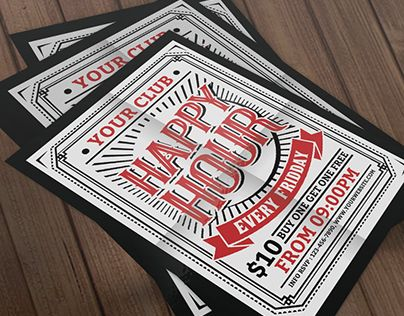 """Check out new work on my @Behance portfolio: """"Happy Hour Flyer"""" http://be.net/gallery/40586067/Happy-Hour-Flyer"""