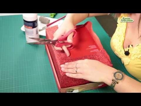 Caixa de Sapato Decorada com Tecido Passo a Passo | Revista Artesanato