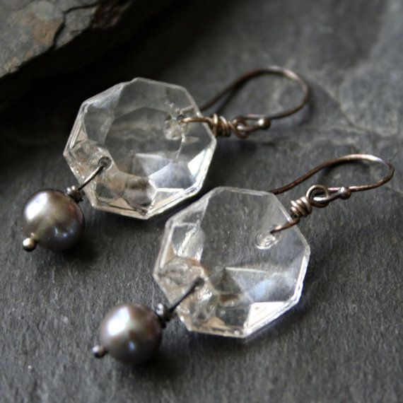 15 Vintage Crystal Chandelier Prisms / Replacement Prisms / Craft ...
