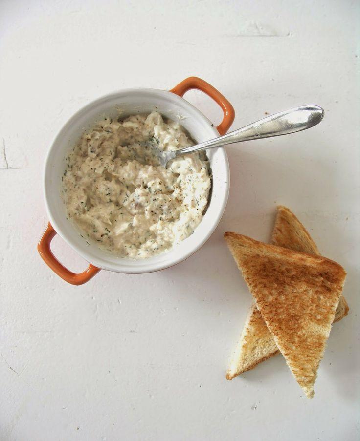 gerookte forelsalade voor op toast of brood