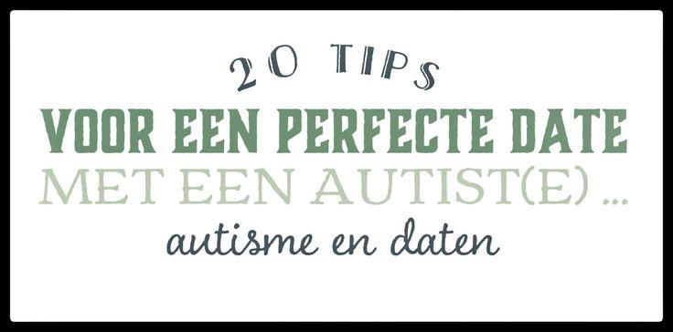Elke twintigste van de maand breng ik een lijst met een aantal tips over een bepaald thema in het leven  Deze eerste keer een lijst met 20 tips voor mensen zonder autisme die onzeker zijn in het daten van iemand waarbij ze weten of vermoeden dat hij/zij autisme heeft.  De lijst is losjes geïnspireerd door de lijst '48 Tipps für ein perfektes Date mit einem Autisten oder einer Autistin' van Marlies Hübner.