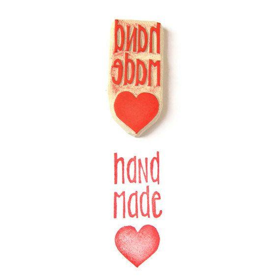 Handmade Love Rubber Stamp Rubber Stamp Cling door creatiate