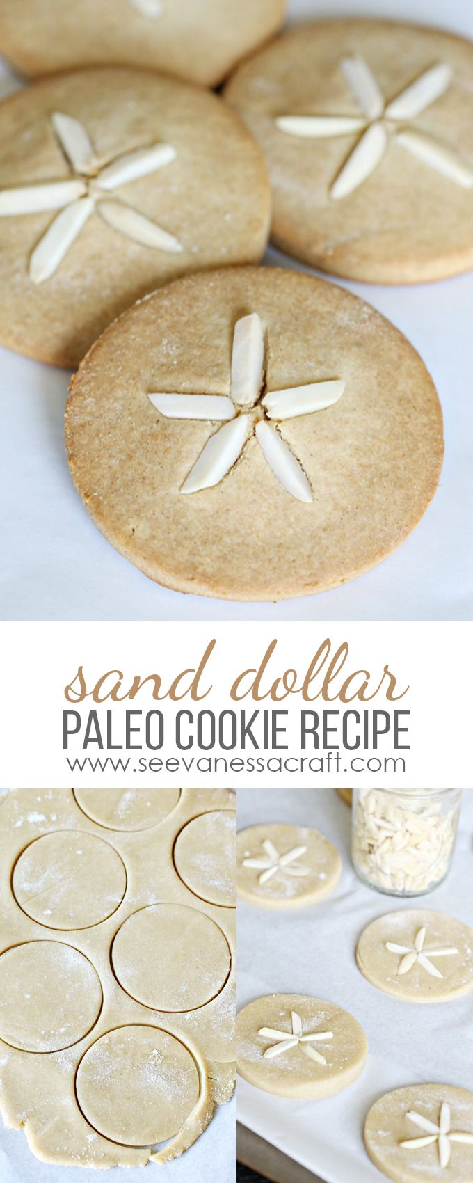 Sand Dollar Cookies - Gluten Free, Grain Free, Sugar Free, Dairy Free, Paleo Friendly Dessert Recipe