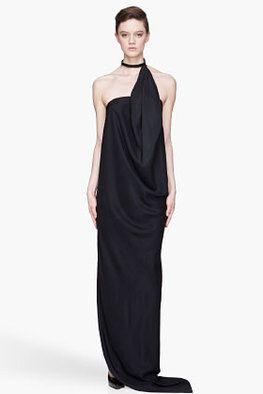 DENIS GAGNON - Siyah saten uzun elbise  Daha fazlası:  http://www.hipnottis.com
