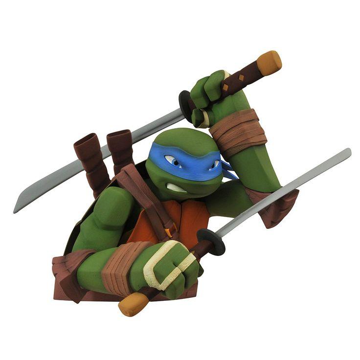 Teenage Mutant Ninja Turtles Leonardo Coin Bust Bank
