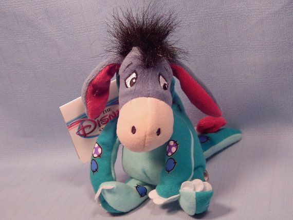 This item is RETIRED. It has not been made/sold in stores for years. You can tell the age by the vintage Disney Store tags still attached to it. New Retired Disney Store 9 DINOSAUR EEYORE From by VintagePreserve  #Disney #Rare #WinnieThePooh #Eeyore