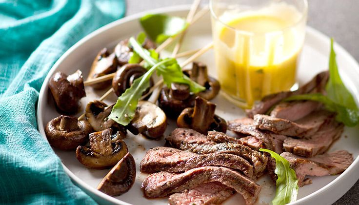 Cubed-rump-and-mushrooms-with-be¦üarnaise-sauce