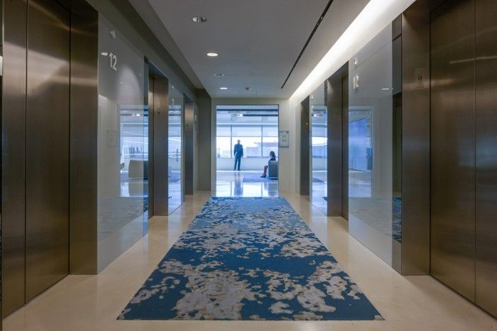 11 Executive Elevator Lobby 700x466 DIRECTVs El Segundo Headquarters