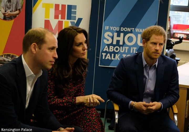 hrhduchesskate:  The Mix Volunteer Christmas Party, December 19, 2016-The Cambridges and Prince Harry listen to young people as they share their experiences