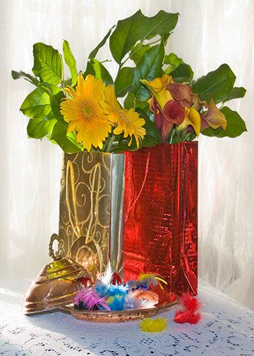 A6 Greeting Card  Flowers in Foil Gift Bags 105mm x by Fast4Wards