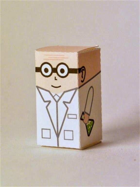 kerajinan gunting/tempel anak TK/SD, membuat sendiri kotak souvenir permen, ilmuwan jenius