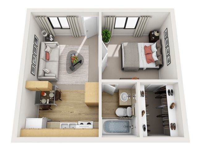 Interior Design 1 Bedroom Apartment 3564 best home ideas and floor plans images on pinterest