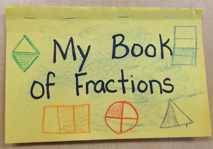 My book of fractions   hands on activity to give students a clear understanding of how to divide things into equal parts