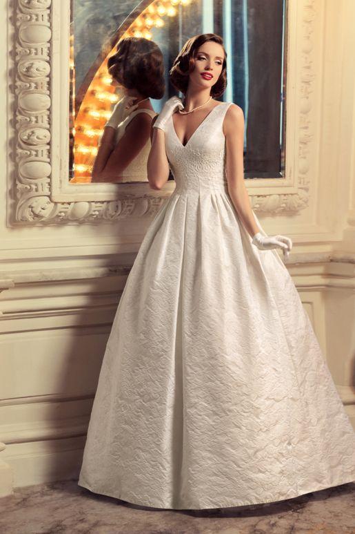 Свадебное платье из жаккарда купить