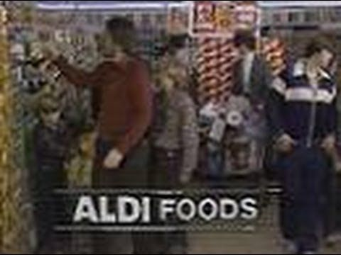 "Aldi Foods - ""Cha-Ching!"" (Commercial, 1980) Here is another commercial for Aldi Foods. Sliced, Canned Bacon?  Voiceover by Al Parker.  This aired on local Chicago TV on Friday, February 29th 1980."