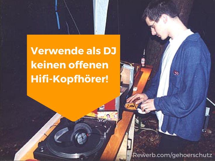 Offenen HiFi-Kopfhörer sind für jeden DJ der absolute Gehör-Killer #Lärmschwerhörigkeit #Club #DJs