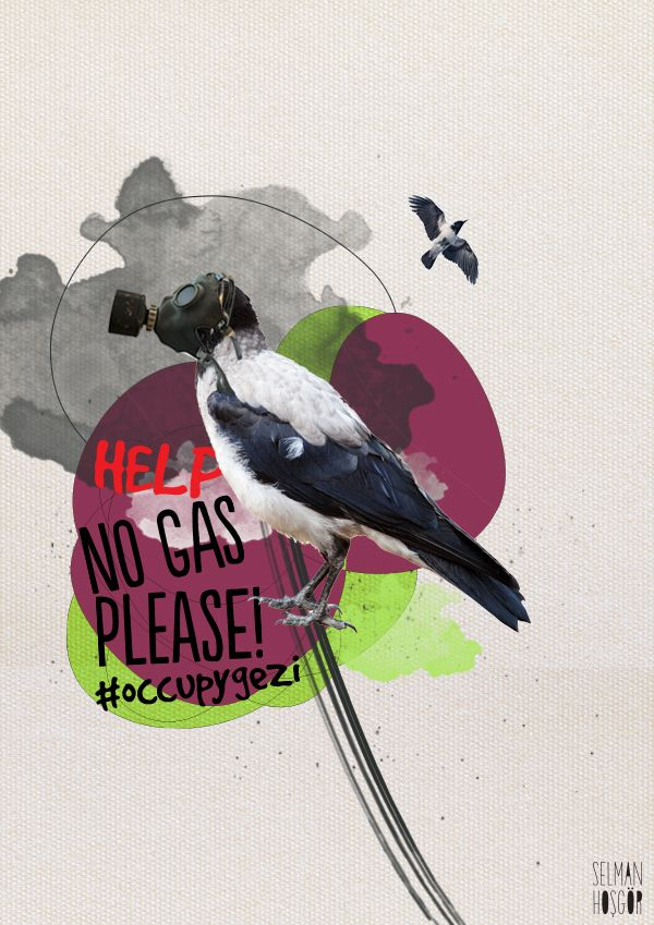 No gas please! - Taksim Gezi Parkı by Selman HOŞGÖR, via Behance