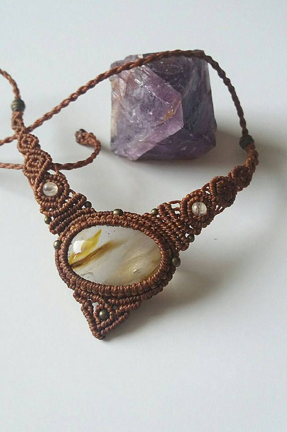 Check out this item in my Etsy shop https://www.etsy.com/nz/listing/535143929/handmade-macrame-necklace-jewellery