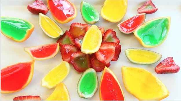 Fruit Wedge Jello Shots