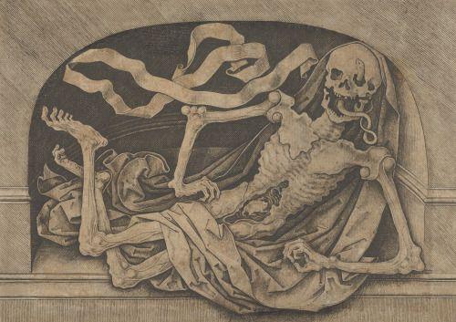 "scribe4haxan: "" Memento Mori (Late 15th century engraving) - Master IAM of Zwolle """
