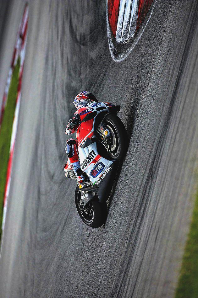 Casey Stoner testing the Ducati