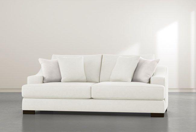 Lodge Foam White Sofa White Sofa Living Sofa White Sofas