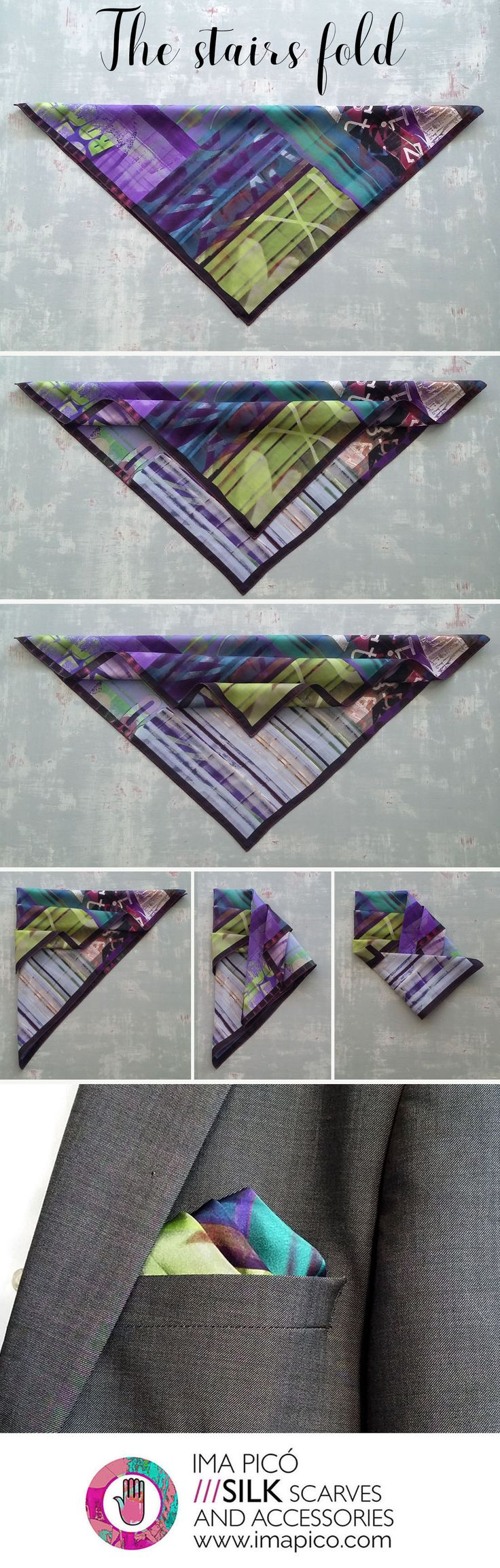 How to fold a pocket square The stairs fold. Pocket square shop.