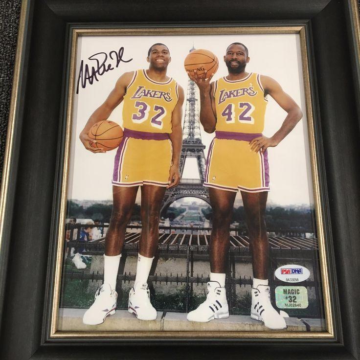 Magic Johnson Signed 8x10 Photo w/James Worthy PSA/DNA