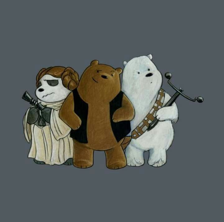We bare bears & star wars crossover
