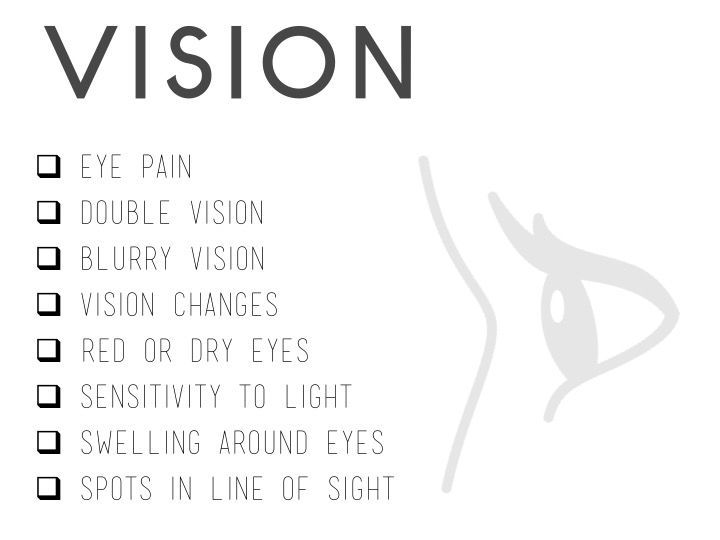 Lyme Disease - Symptoms affecting vision  www.lymeandthecity.org