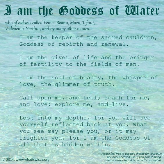 I Am the Goddess of Water – Witches Of The Craft®