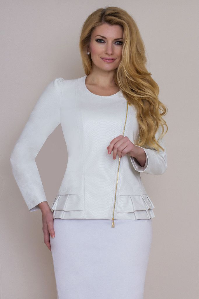 White faux leather jacket 443