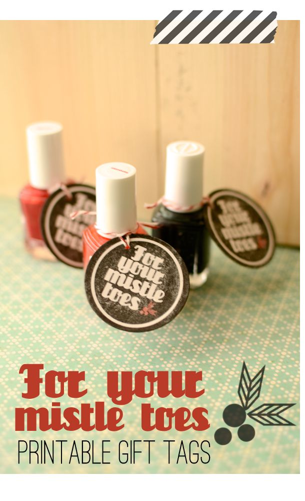 Ruffled Sunshine: For your mistle toes| printable.  A super quick christmas gift for your girlfriends!