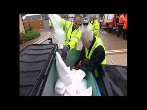 City of Westminster, London Firefighters Testing FloodSax Sandless Sandb...