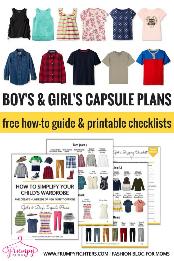 16b39e753273 This is THE BEST kid s capsule wardrobe plan because it s simple and  classic and all the examples pieces are on Amazon.com! The free  printable  PDF includes ...