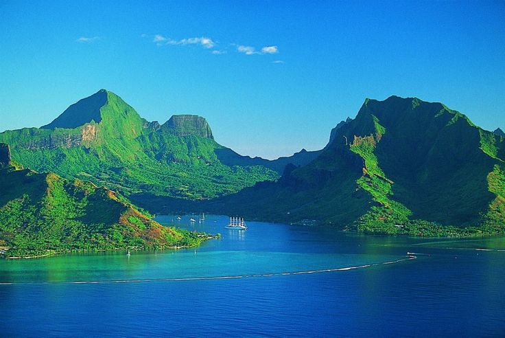 La bahía de Cook, Moorea, Polinesia Francesa