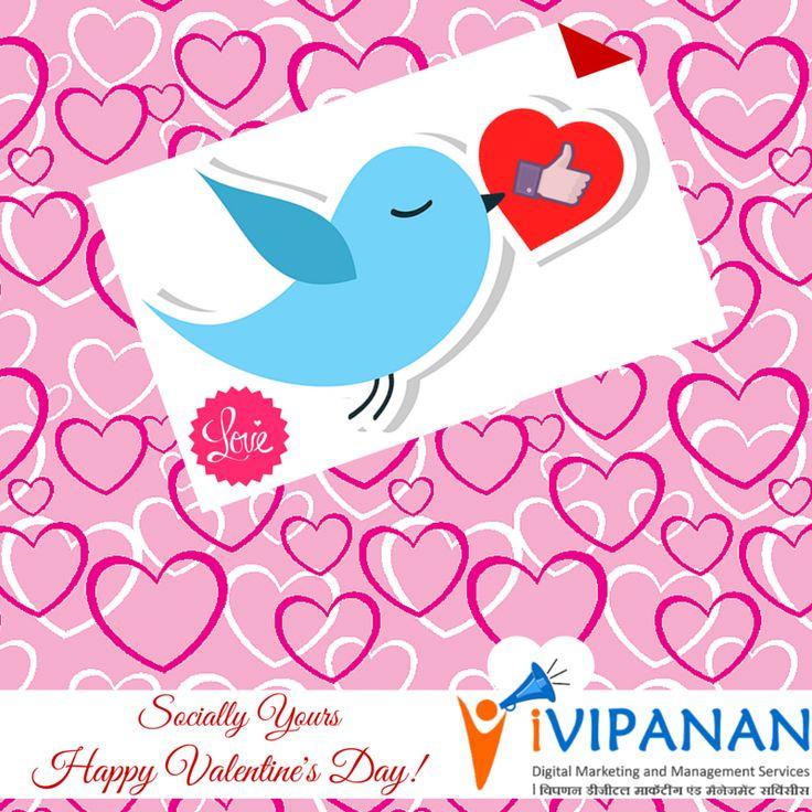 Socially yours! Happy #Valentines Day! #surat #Gujarat #DigitalMarketing #SMM #SocialMedia #ValentinesDay www.ivipanan.co.in