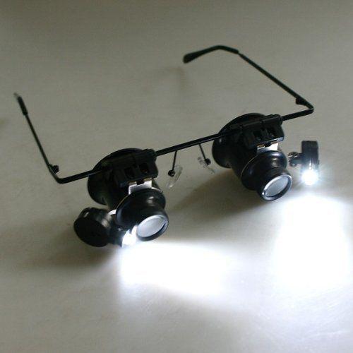 Fancy Fach Brille Lupenbrille LED Lampe Vergr erungsglas Lupen Uhrmacher Juwelier in Uhren u Schmuck Juwelier u Uhrmacherbedarf Uhrmacherwerkzeug