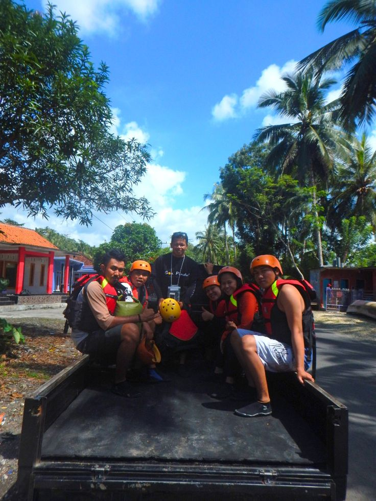 transportasi pick up body rafting
