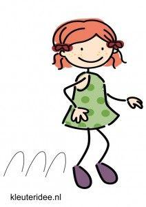 Bewegingskaart voor kleuters, vooruit springen, kleuteridee.nl, free printable moving cards for preschool