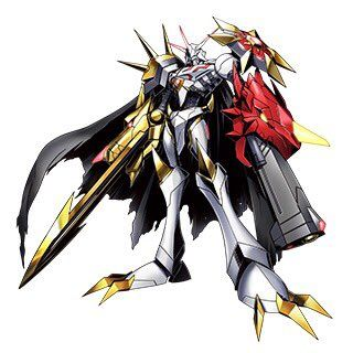 Omnimon Alter-S. He is the DiBZ fusion of BlitzGreymon and CresGarurumon, and is majorly involved in this M-U movie. Tai and Matt are still with him, though.