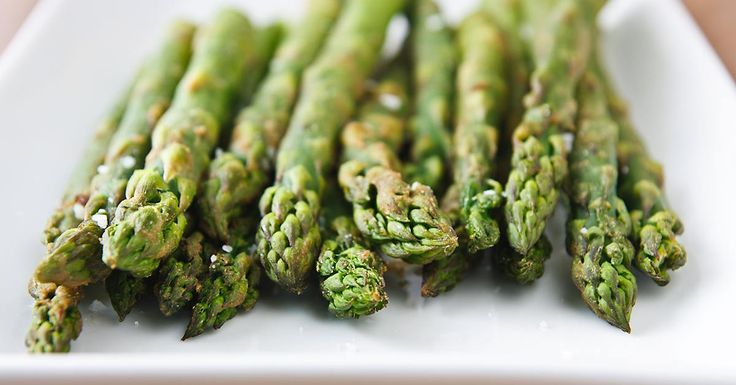 Wasabi lends its characteristic heat to this delicious roasted asparagus recipe, with a dash of sesame oil and coarse salt for added flavor.