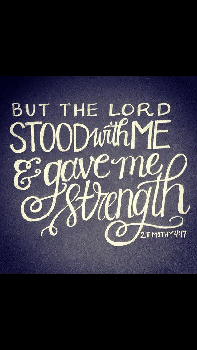 But the Lord stood at my side and gave me strength, so that through me the message might be fully proclaimed and all the Gentiles might hear it. And I was delivered from the lion's mouth. (2 Timothy 4:17 NIV)