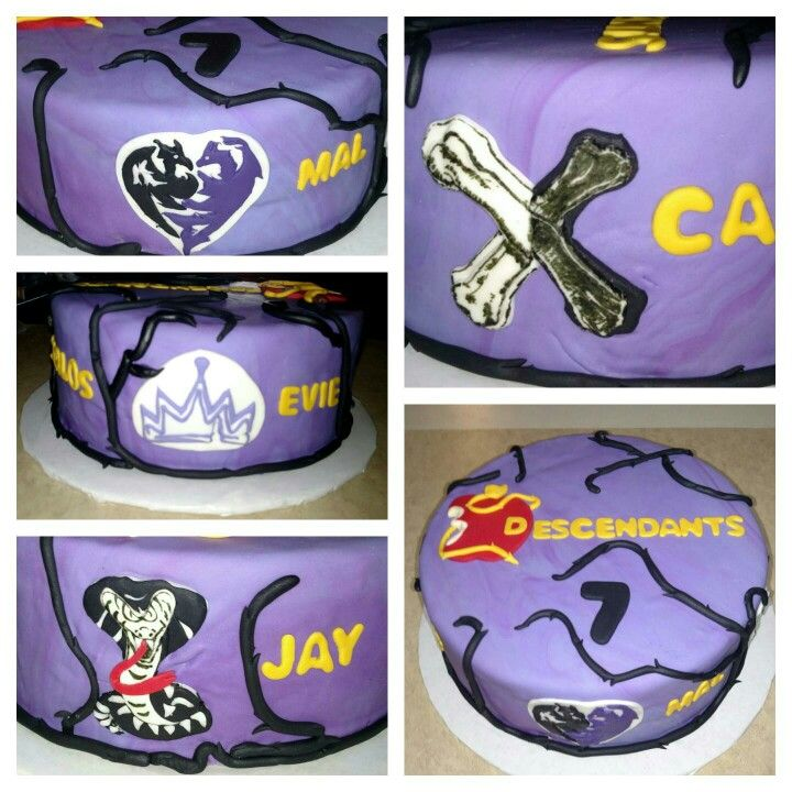 Disney Descendants cake.