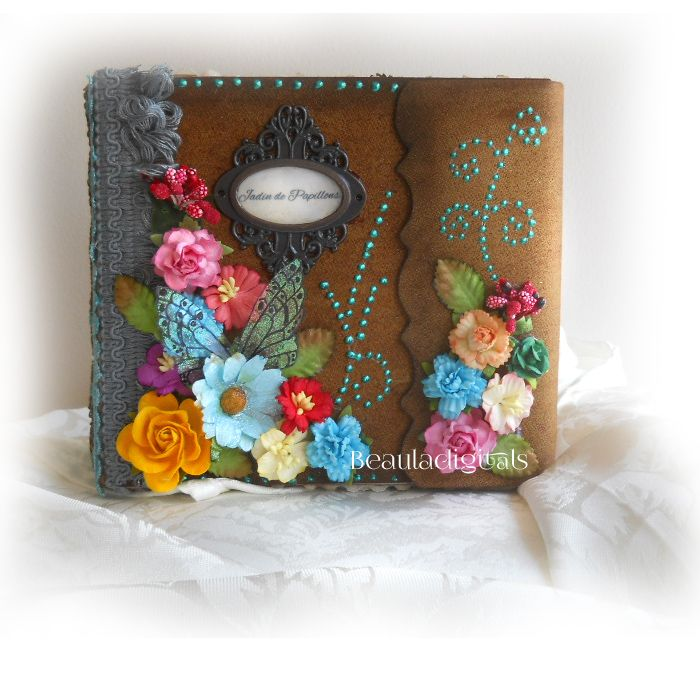 Feast your eyes on this gorgeous Handmade Butterfly garden decorative mini album :) Lovingly Handmade and put together to make it a truly a One of a kind design.