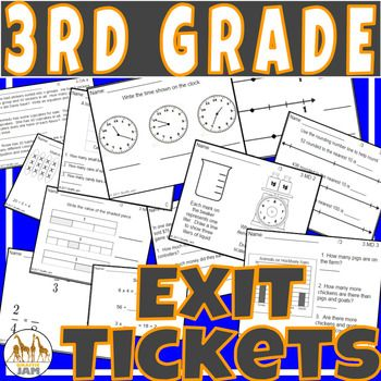 The Ultimate Assessment Bundle! Purchase this item to receive 145 Exit Tickets! All are common core aligned and are no prep. Each standard has 5 different exit ticket formats. Each ticket is labeled with the standard and a letter key (A,B,C,D,E) to easily identify the ticket type.