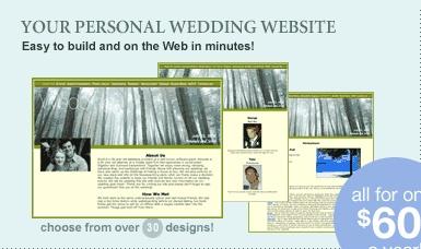 Create Free Wedding Website - Personal Wedding Web Site - Free Wedding Planning Tools